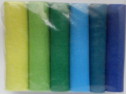 Bild von Industriefilz 3mm grün/blau