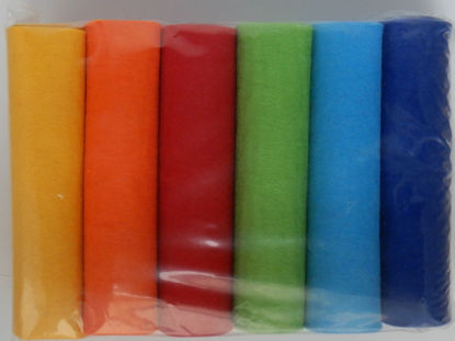 Bild von Industriefilz 3mm Regenbogenfarben