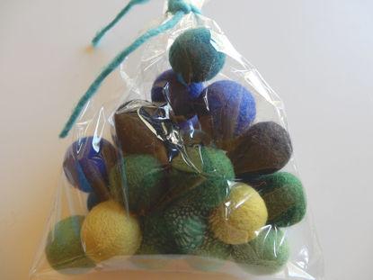 Bild von Filzkugeln blautöne 24 Stück