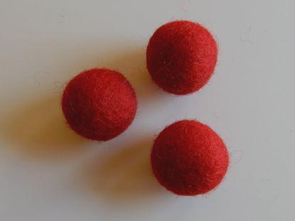 Bild von Filzkugel rot