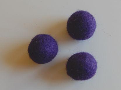 Bild von Filzkugel violette