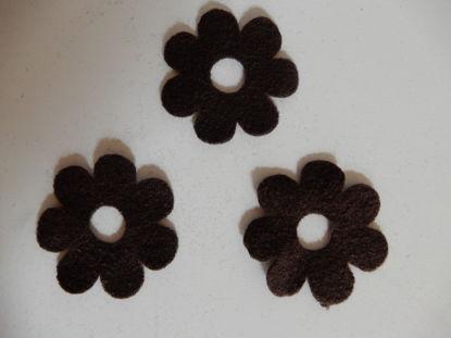 Bild von Filzblumen braun 80 Stück