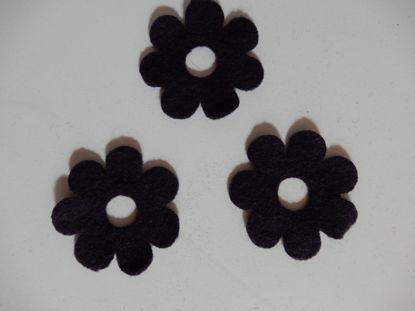Bild von Filzblumen violett 109 Stück