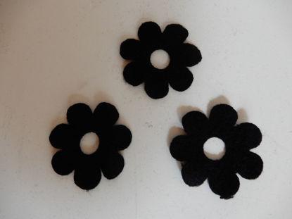 Bild von Filzblumen schwarz 127 Stück