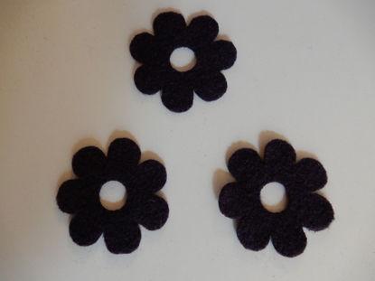 Bild von Filzblumen violett 82 Stück