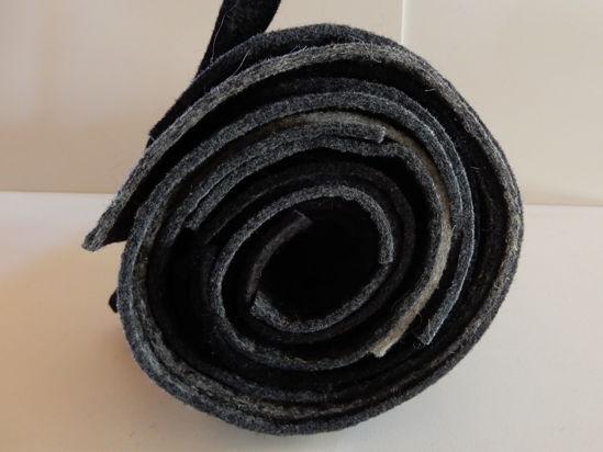Bild von Filzresten grau schwarz